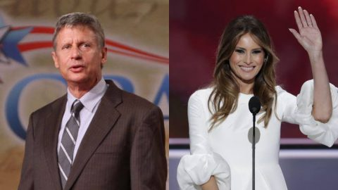 Gary Johnson Defends Melania Trump's Controversial RNC Speech