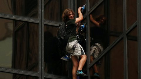 """Trump Tower Climber Says """"Vote Trump"""" In Shocking Video"""