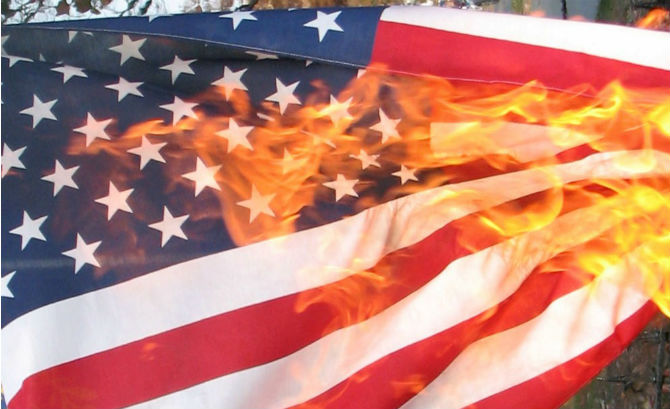 the meaning of flag burning Flag-burning or desecration isn't unique to the 21st century it first became an issue in the us after the civil war and it's had a colorful and storied legal history since that time the establishment of state flag desecration laws (1897-1932.